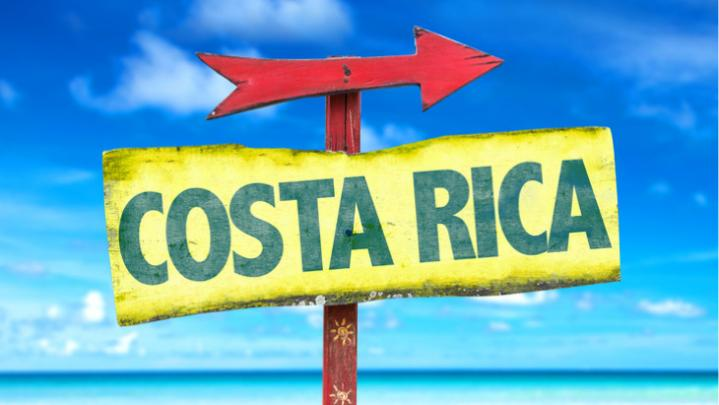 Sign of Costa Rica